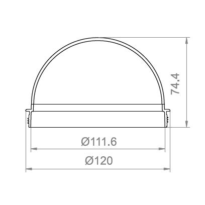 4.4寸罗纹球罩